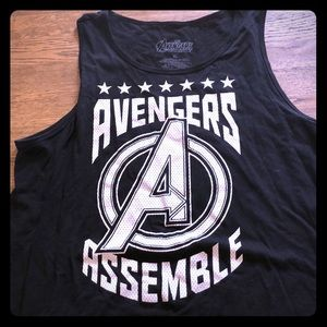 Hot Topic Tops - Black Marvels Avengers Hot Topic tank top